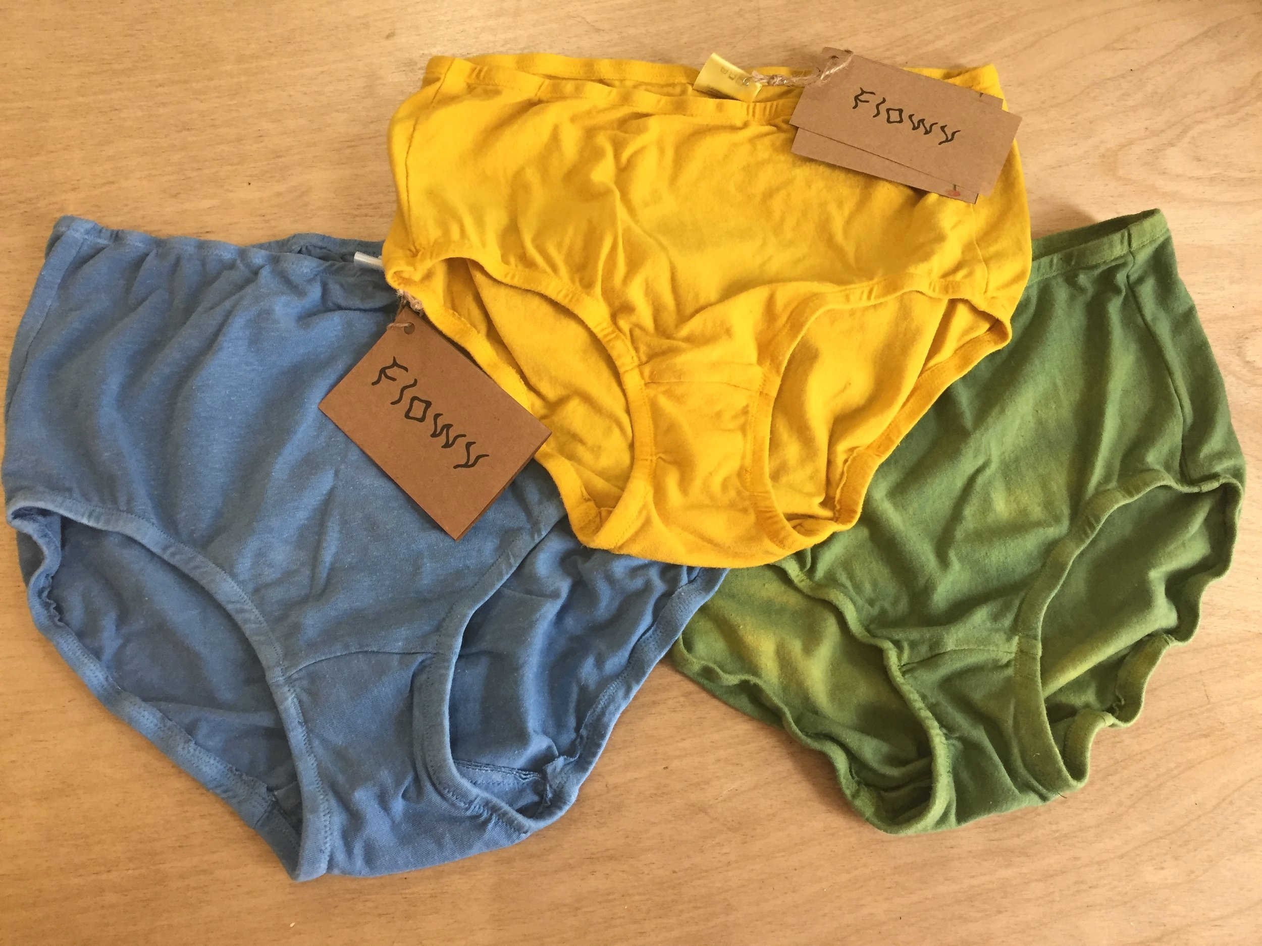 Forget your thong. Grab some high-waisted underwear handmade from all-natural materials and all-natural dyes by Baltimore brand  Flowy .