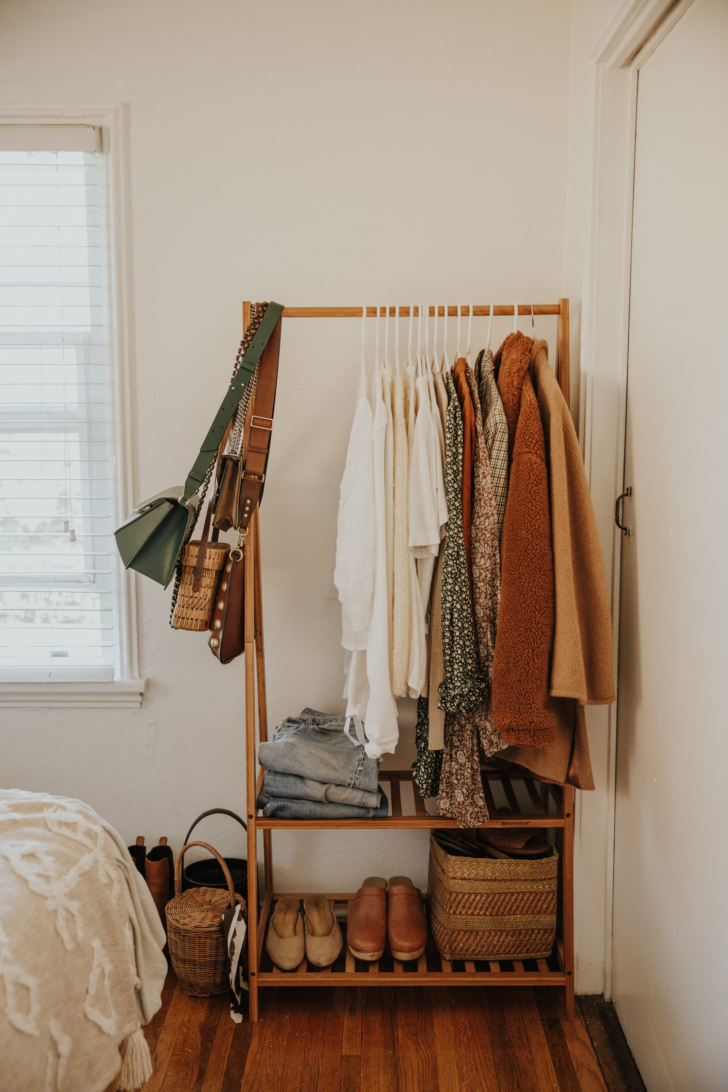 A peak inside Tonya's closet.
