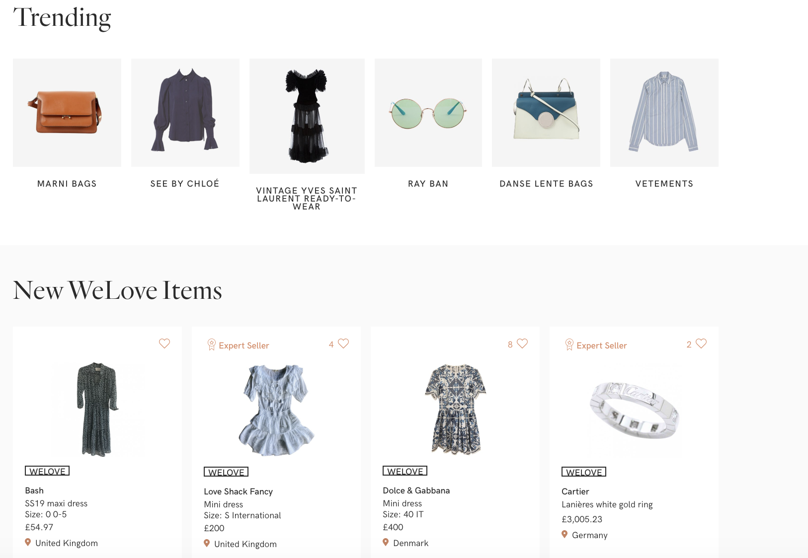 Vestiaire Collective - Vestiaire Collective is another online marketplace to buy and sell authenticated pre-owned luxury fashion. Unlike The RealReal, its team of in-house experts authenticate items once sold vs. prior to listed on the site.