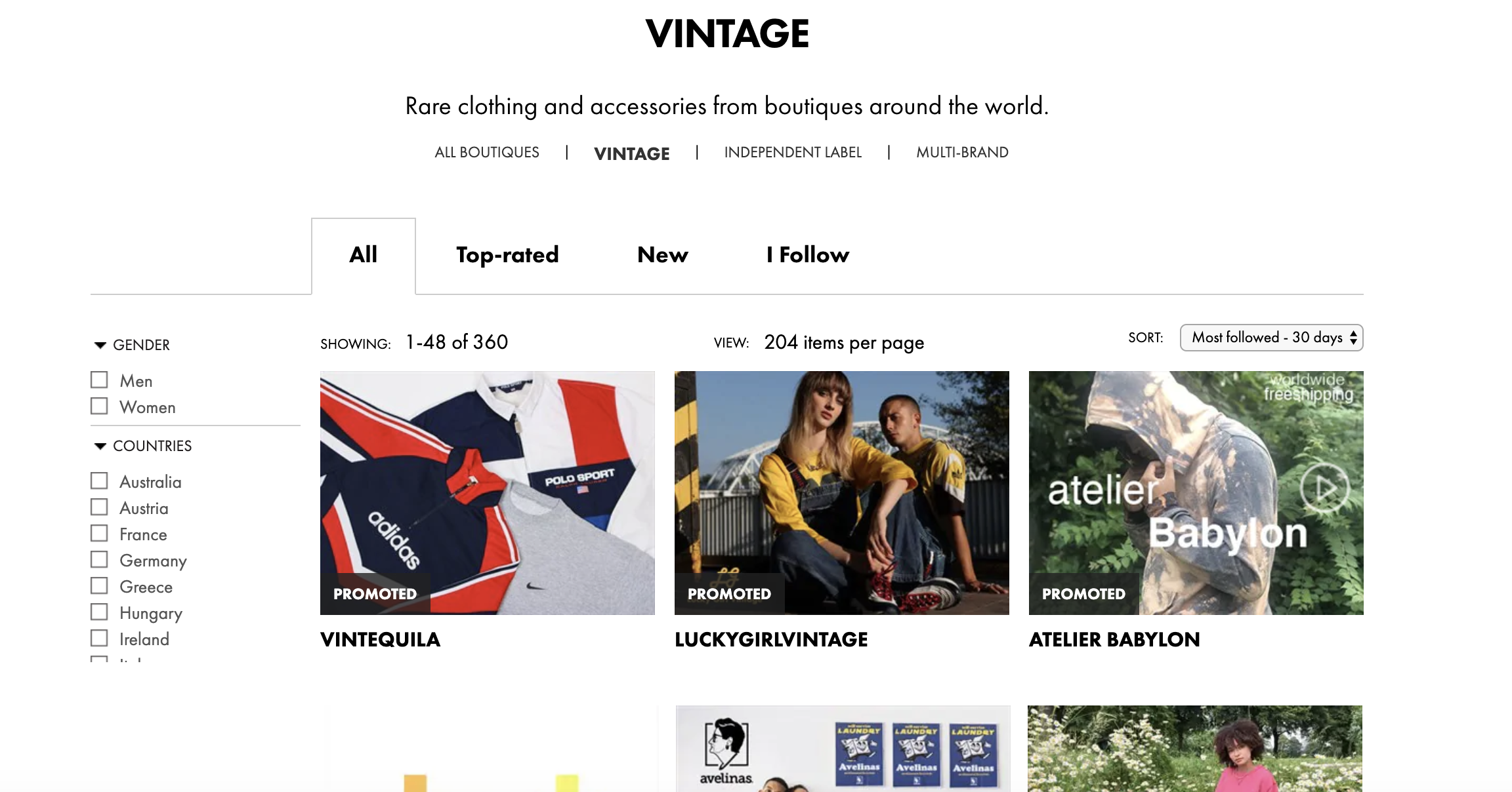 ASOS Marketplace - Avoid the new and fast fashion, and check out Marketplace, an online platform with more than 800 independent brands and vintage boutiques. Like Depop, you can get to know the sellers via their profiles.