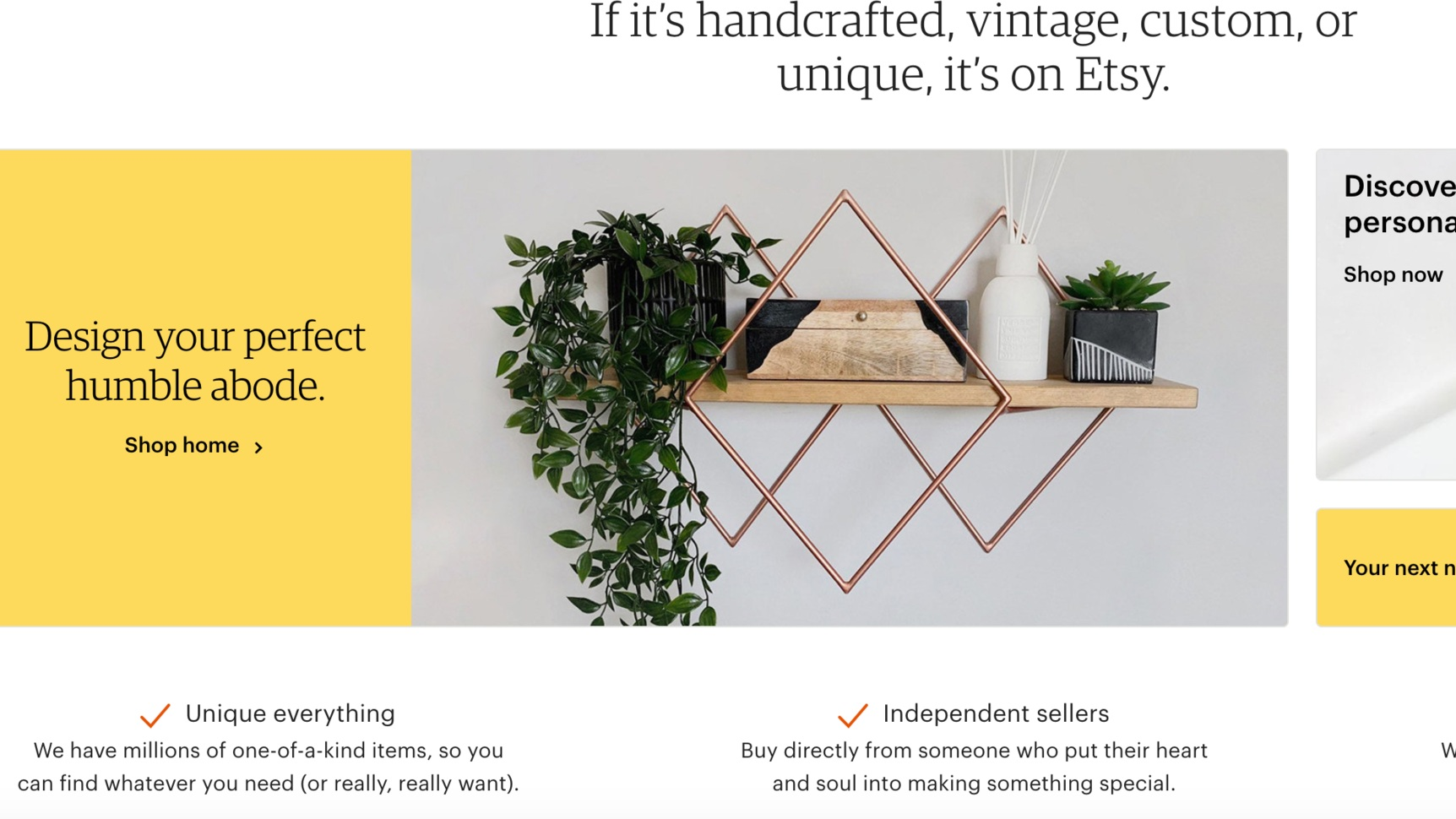 Etsy - You may know Etsy for its handmade goods sellers, but Etsy also has 1,000s of vintage item sellers. Reselling on the site is only allowed in the vintage and craft supplies categories so you won't see any current items here.