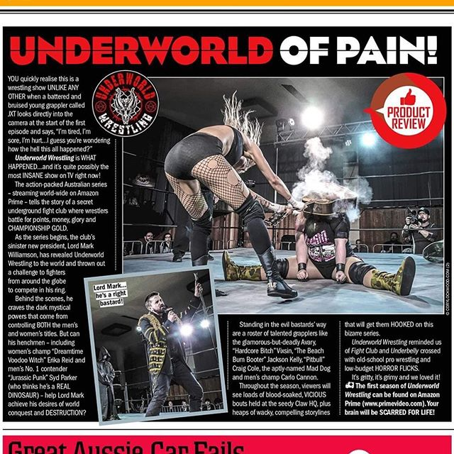 Underworld featured in People magazine!  #underworldwrestling #peoplemagazine #wrestling #hardcorewrestling #uwfightclub #popculture #feature #magazine #news #tv #amazonprime