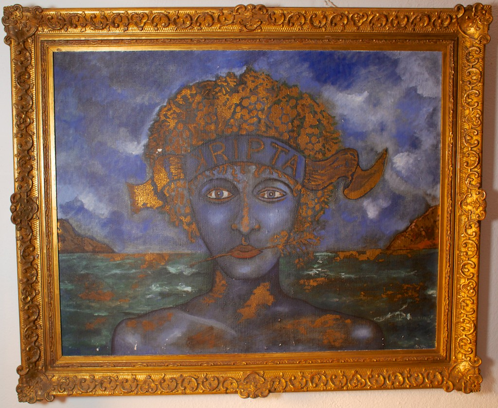 The original artwork that later became the label.