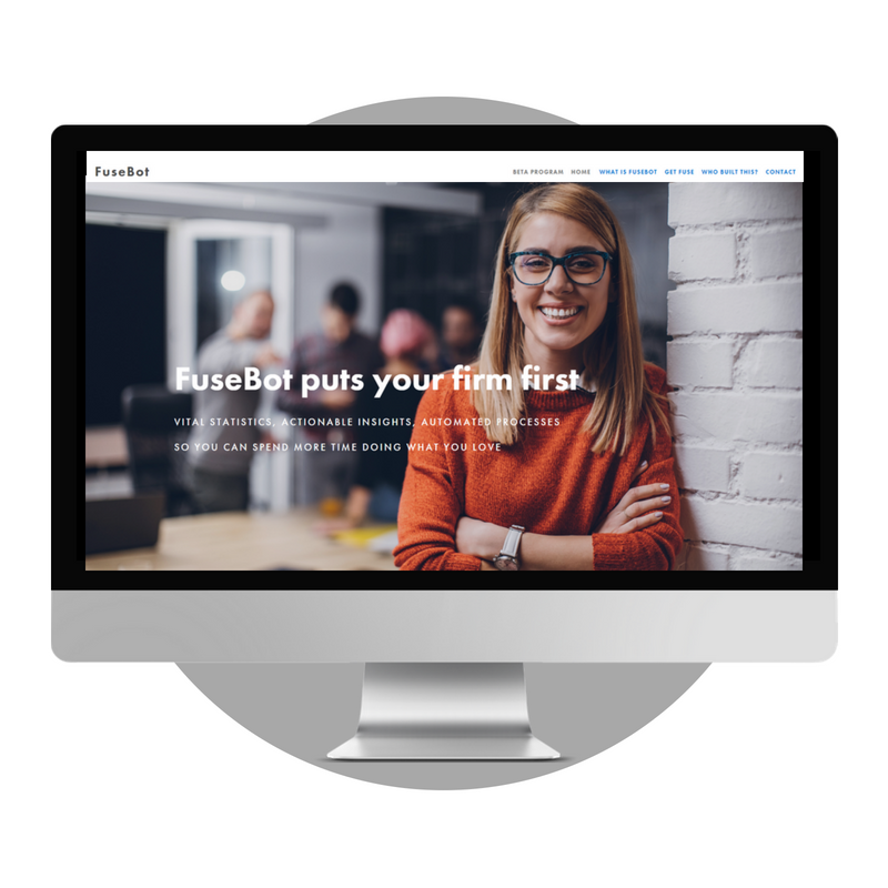 Preparing for (Product) Launch  Web Design | Copywriting    FuseBot  is an intelligent chatbot for accountants. With the product still in development phase, we created a clean and simple website site that would pique interest and generate enquiries.