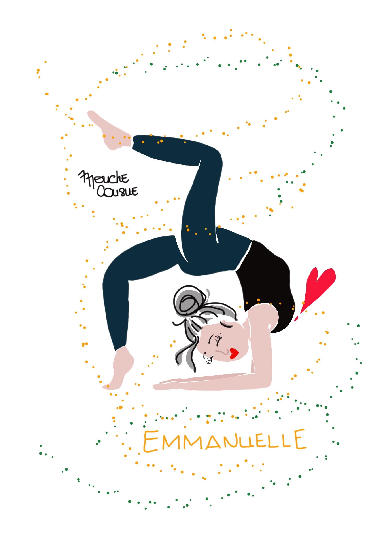 Illustration Mouche Cousue - Carte personnalisée