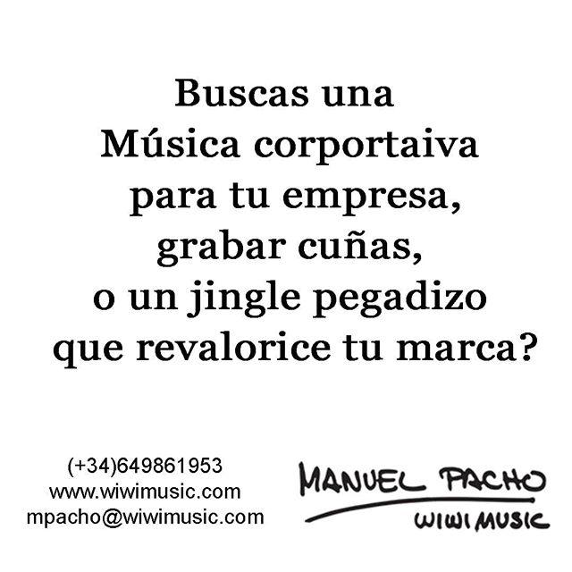 Te presentamos una maqueta sin compromiso. #wiwimusic #musicacorporativa #jingle #cuñas #publicidad #estudio #grabacion