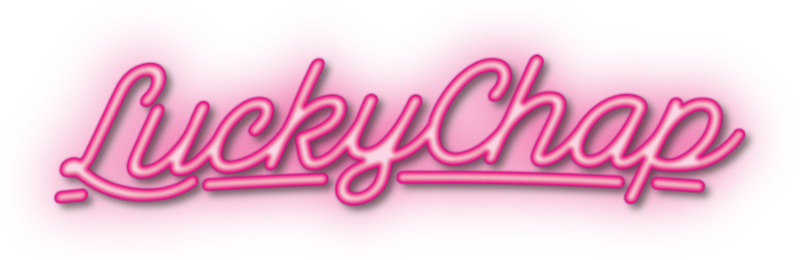 LUCKY CHAP PINK NEON LOGO