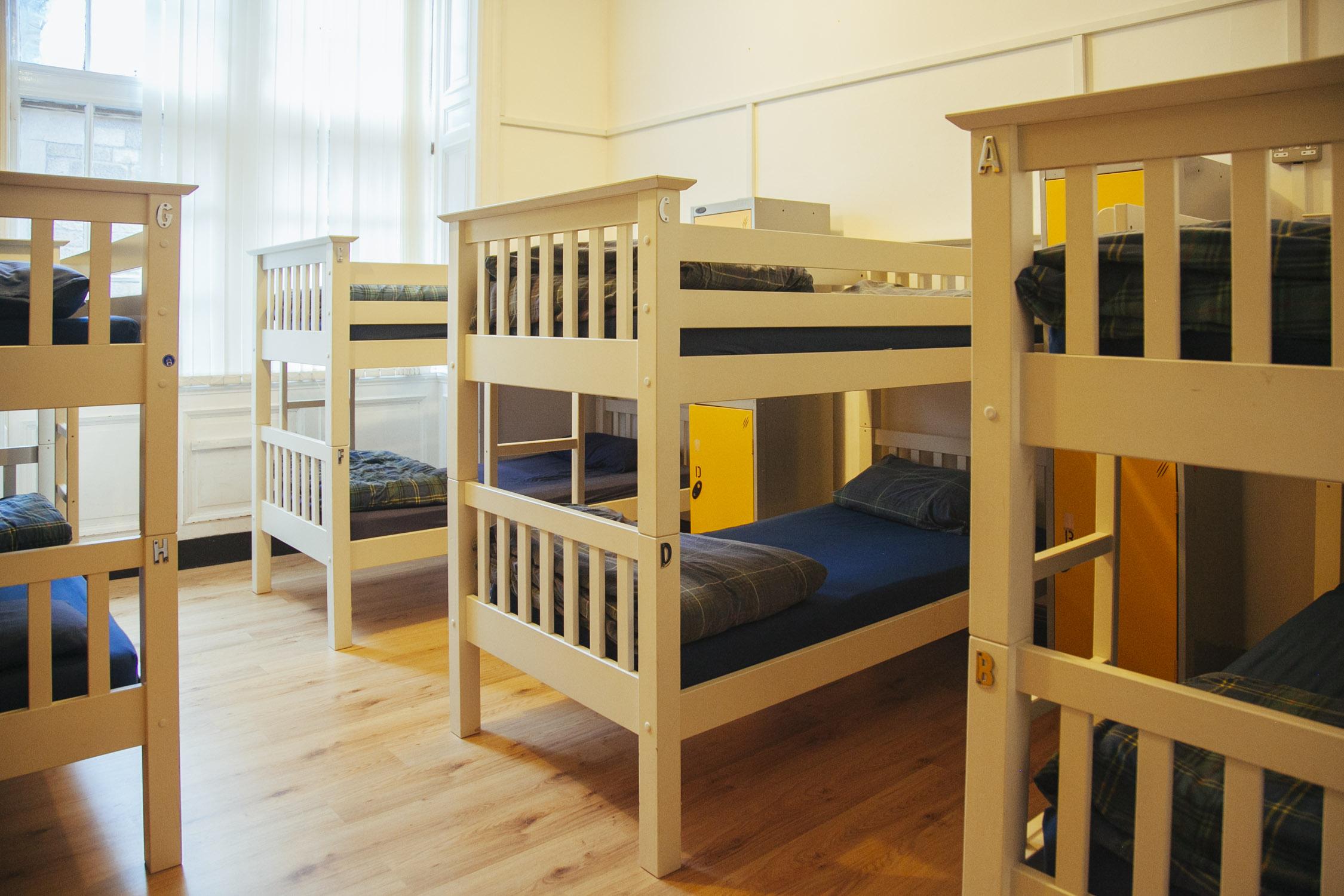 8 bed mixed dorm - 8 bed mixed dorm, shared bathroom.