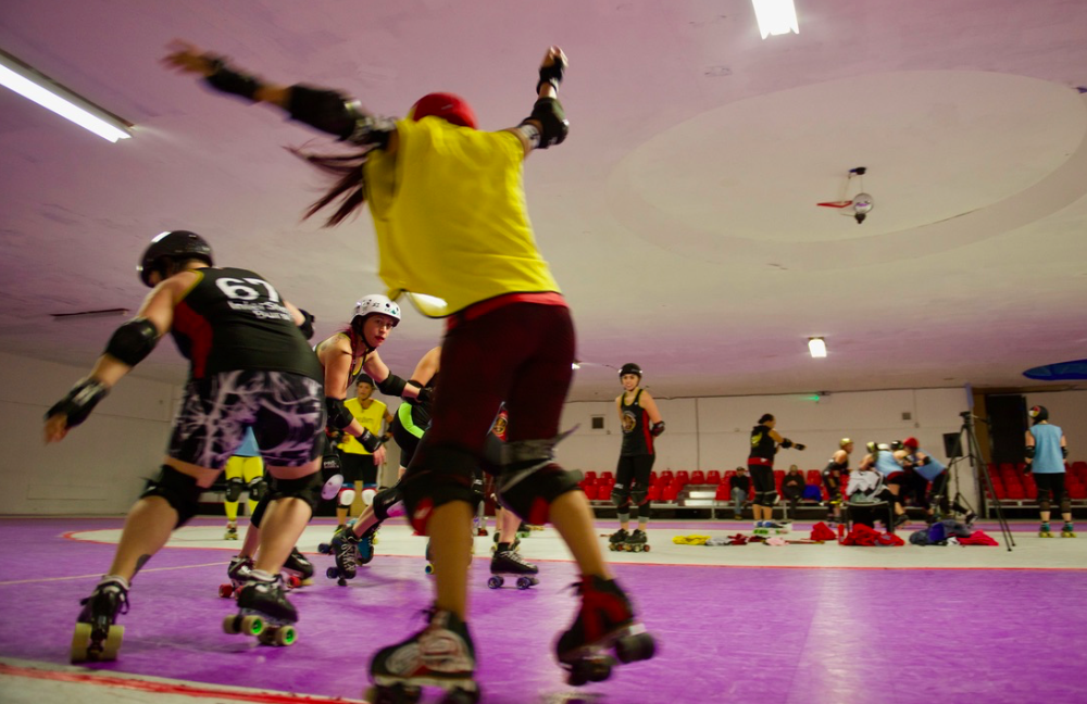 Team Indigenous at the Roller Derby World Cup, England