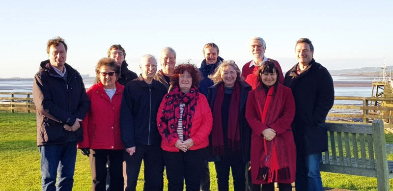 A bright and early start for Liz and her canvassing team in Sharpness