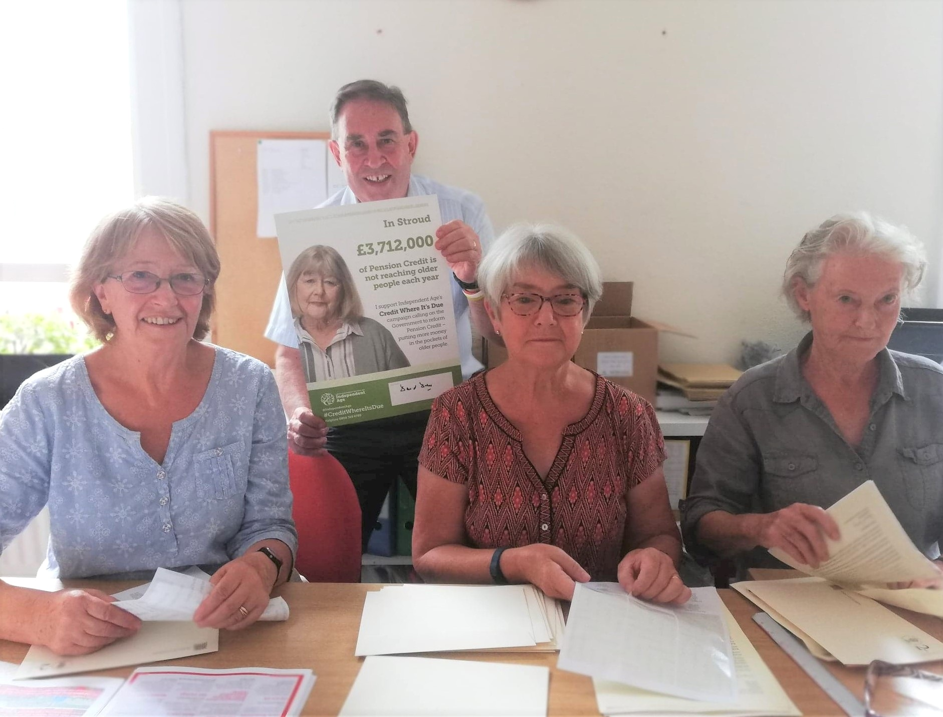 Volunteers have been hard at work this week, helping David Drew MP to reach 4,000 constituents