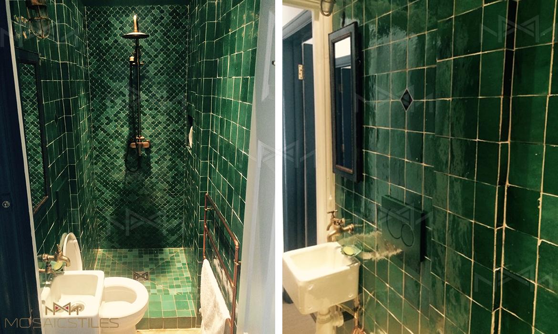 Moroccan zellige tiles green