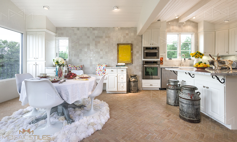 Kitchen with zellige