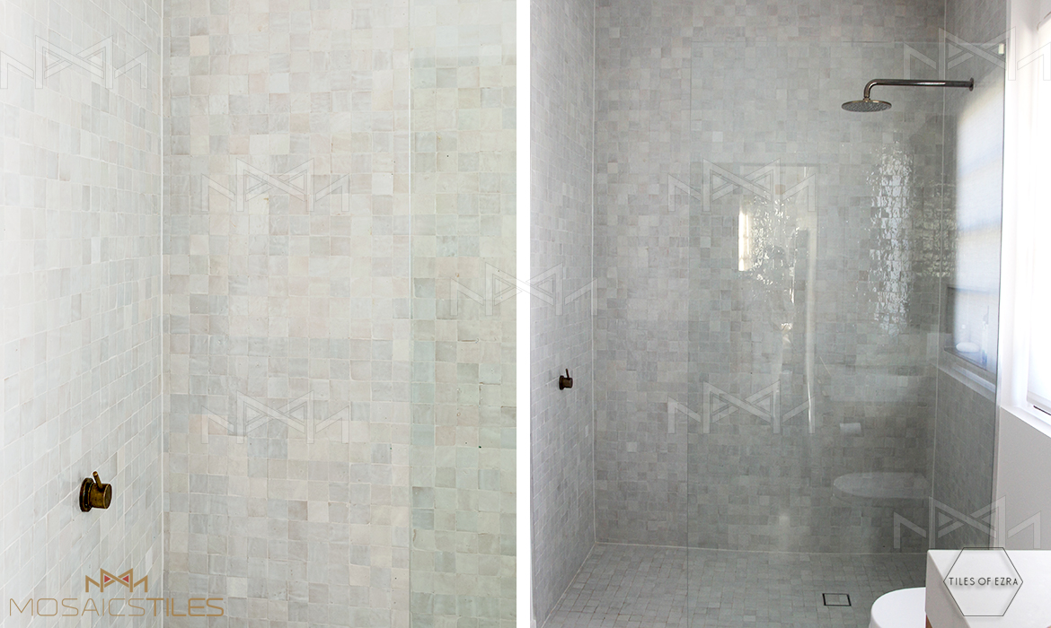 Moroccan tiles in Shower