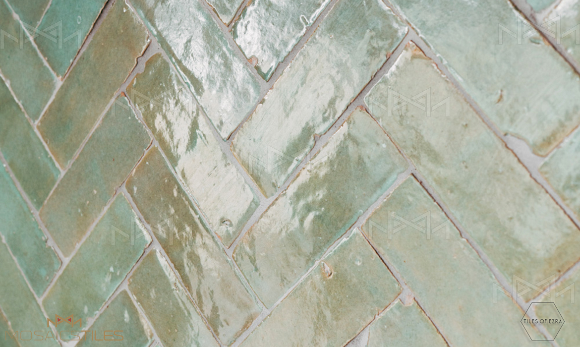 Aqua moroccan subway tile