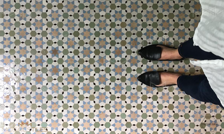 Moroccan zellige floor
