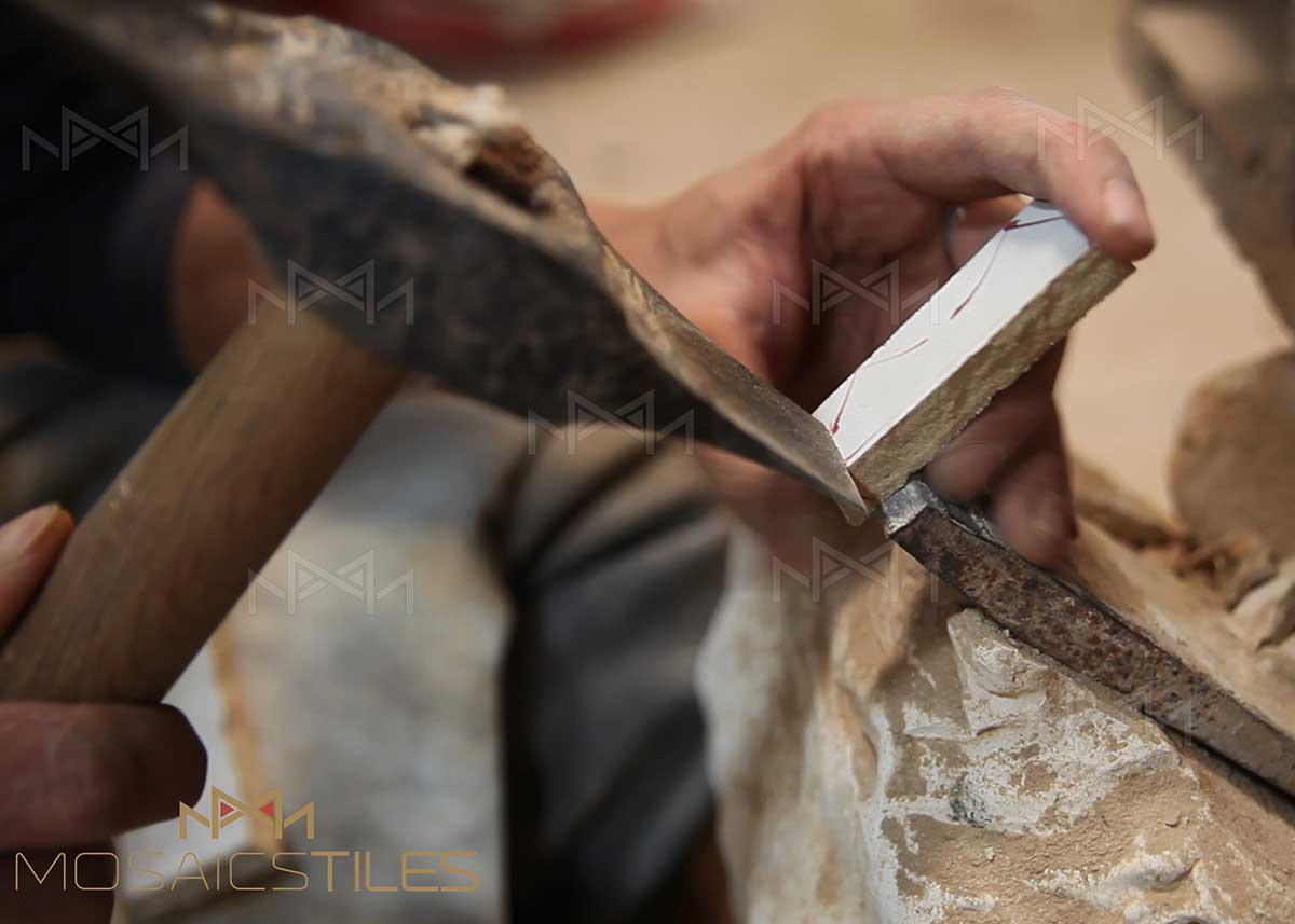 handemade moroccan tiles cut