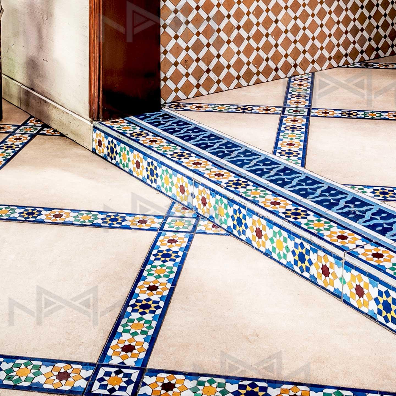 Moroccan zellige tiles borders