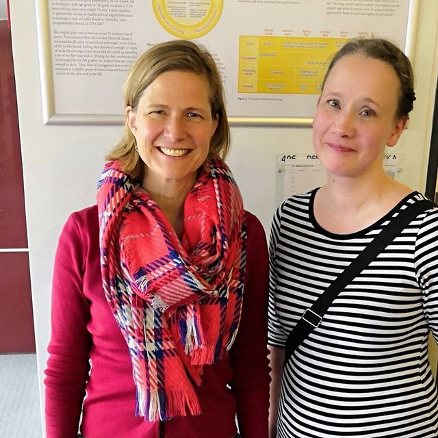 What a Joy and honor to meet with prof. Susan McKenney, the great expert of design-research! —Miia and Anu #kehuprogram #designresearch #doctoralthesis