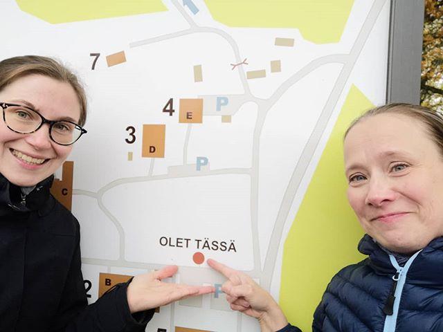 Anu ja Miia tohtorikoulu kirjoitusretriitissä Lammilla. #kehuprogram #tutkimusetenee #lamminbiologinenasema