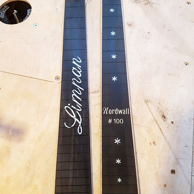 Latest batch of inlays done for @nordwallinstrument  Congrats on the 100th guitar! #fretboard #inlay #mrinlay #100 #guitar #inlays #luthier #luthierie
