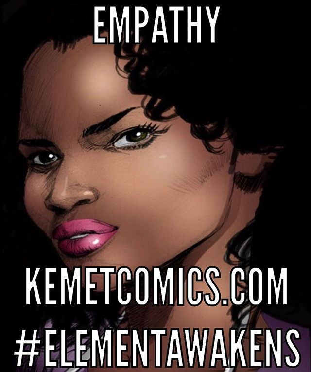 The empathy of a woman is powerful and shouldn't be taken for granted. ELEMENT: In The Beginning...now available. 💧🔥🌪🌍🌪🔥💧 🙌🏼🙌🏽🙌🏾🙌🏿🙌🏾🙌🏽🙌🏼 #indiecomics #superpowers #empath #healing #kemetcomics #elementawakens
