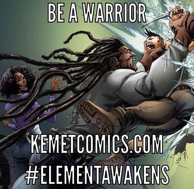 Don't just let life happen to you. Happen to life. ELEMENT: In The Beginning...now available. 💧🔥🌪🌍🌪🔥💧 🙌🏼🙌🏽🙌🏾🙌🏿🙌🏾🙌🏽🙌🏼 #comics #superhero #warrior #kemetcomics #elementawakens
