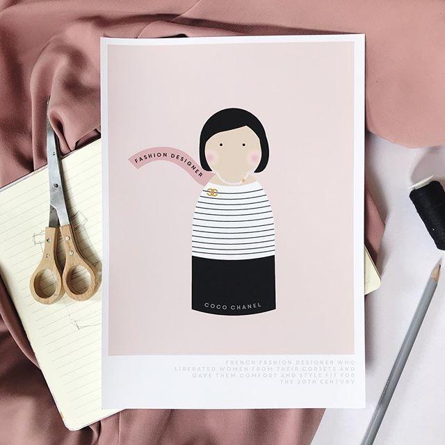 A little Chanel on a Friday. 💁🏻♀️ . . . . . . . . #goodnightstoriesforrebelgirls #smallbusiness #nothsloves #noths #flashesofdelight #thatsdarling #chanel #cocochanel #coco #howtobeparisian #fashiondesign #inspiringlittleones #honestpaperco
