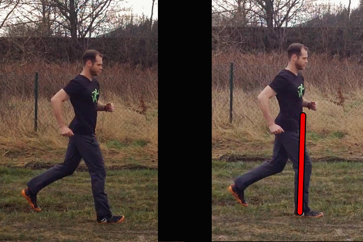 1.Initial ground contact (heel landing) 2.When bodyweight hits the ground. More impact on joints