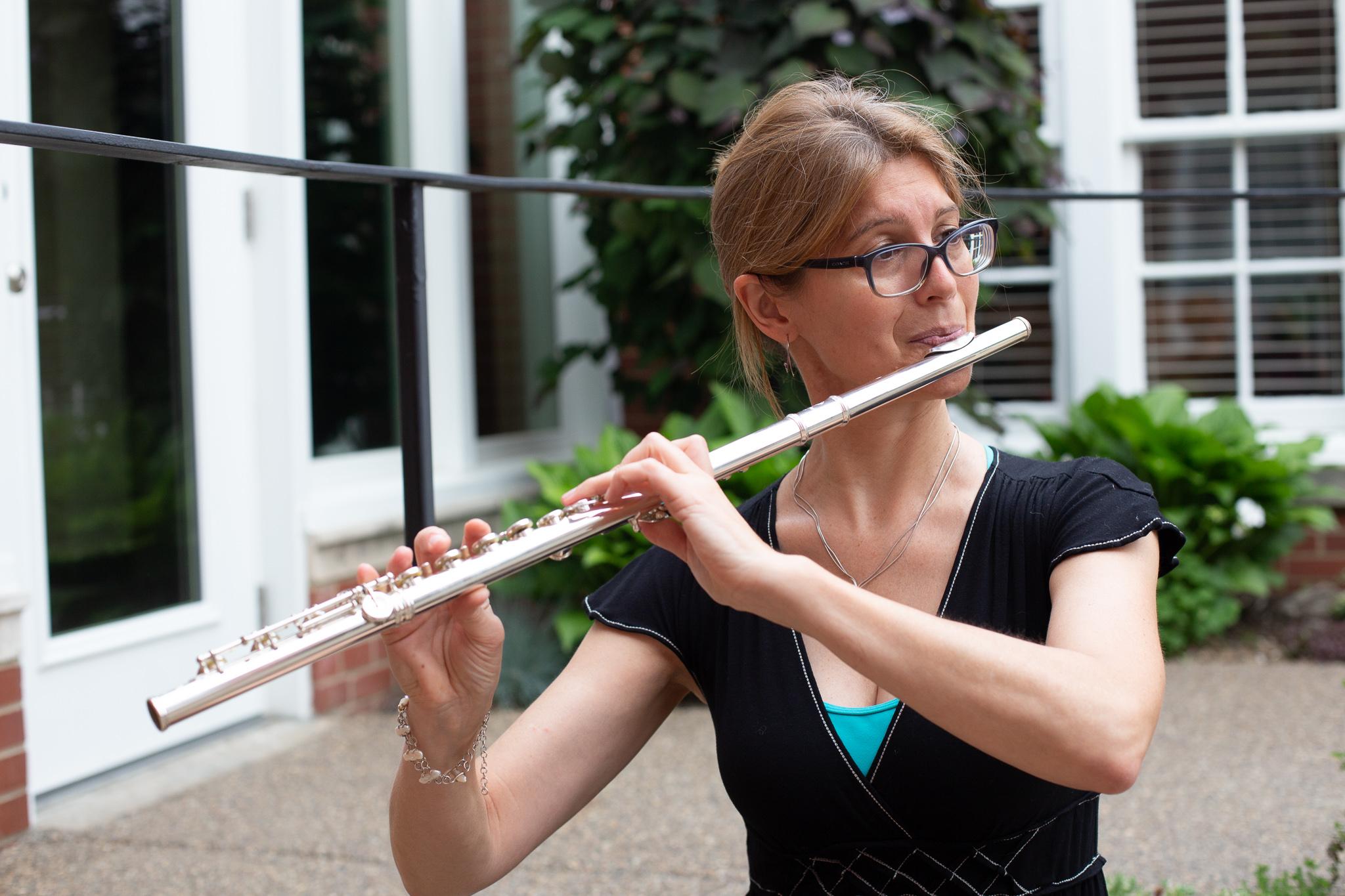 Tara Yaney, flutist. Photo by Michelle Dunn Photography