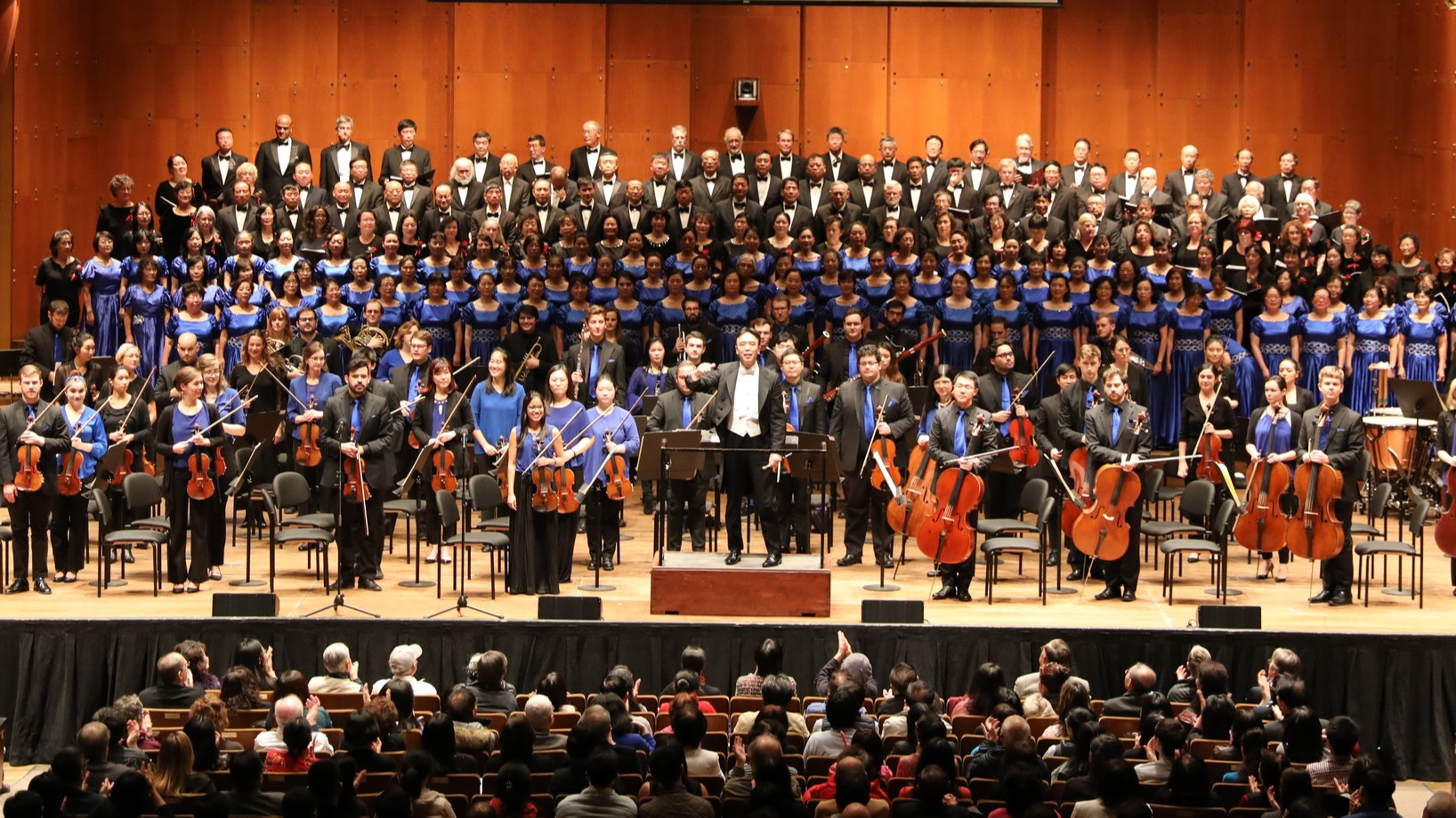 Jindong Cai, The Orchestra Now, and the China Now Festival Chorus. photo by Joe Zhou