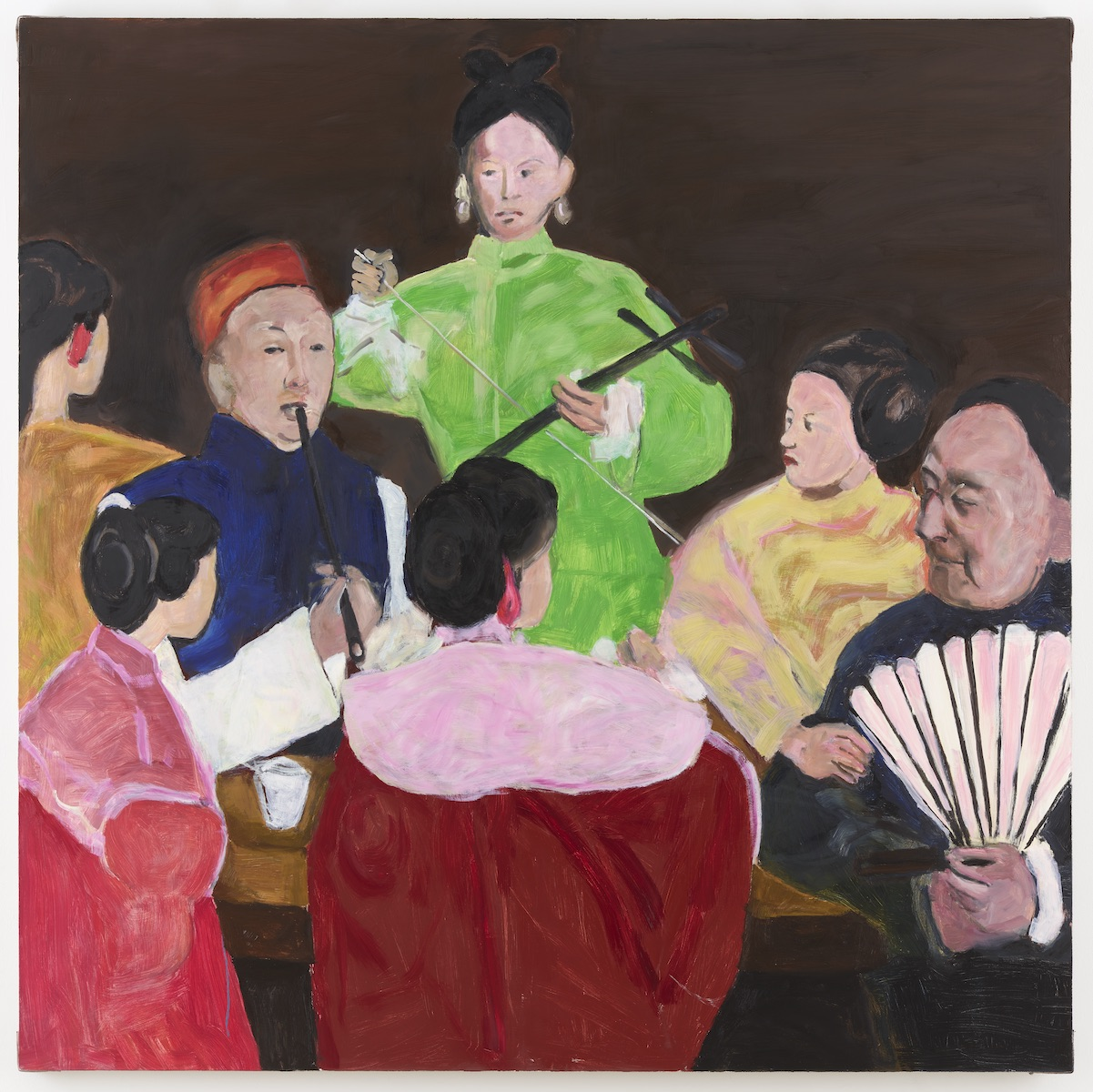Gang Zhao, MFA '00,  High Tea , oil on canvas, 2018; courtesy of the artist and Greene Naftali, New York.