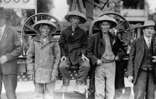 Chinese Railroad Workers, Utah, circa 1869