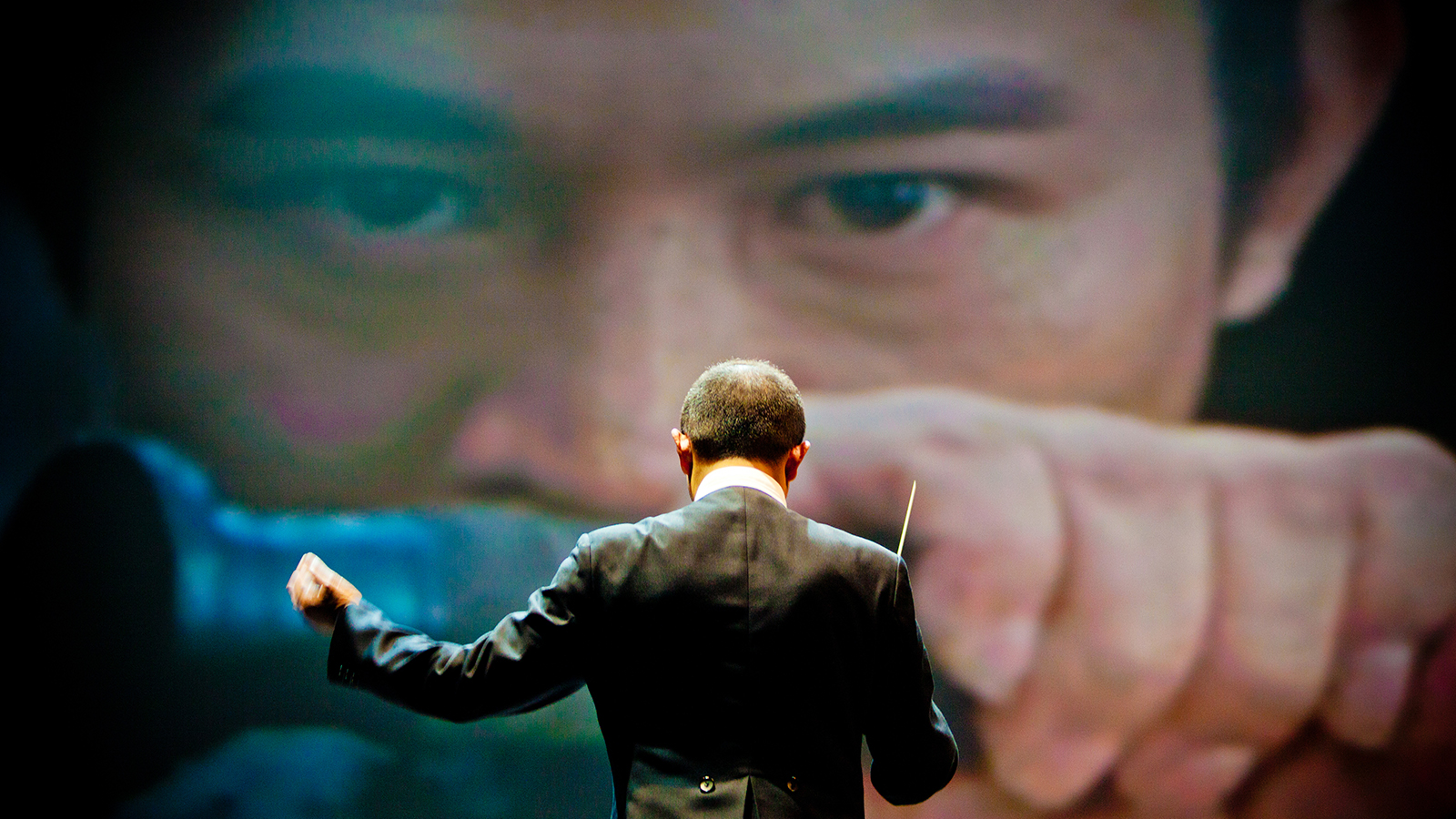 Tan Dun conducts  The Martial Arts Trilogy