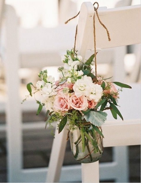 Hanging Chair Decoration - $27.00/ea - petite bundle of blooms to hang on chairs to decorate isle