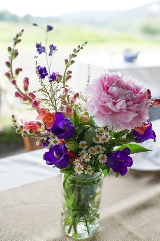 Floral Mason Jar - $26.00/ea