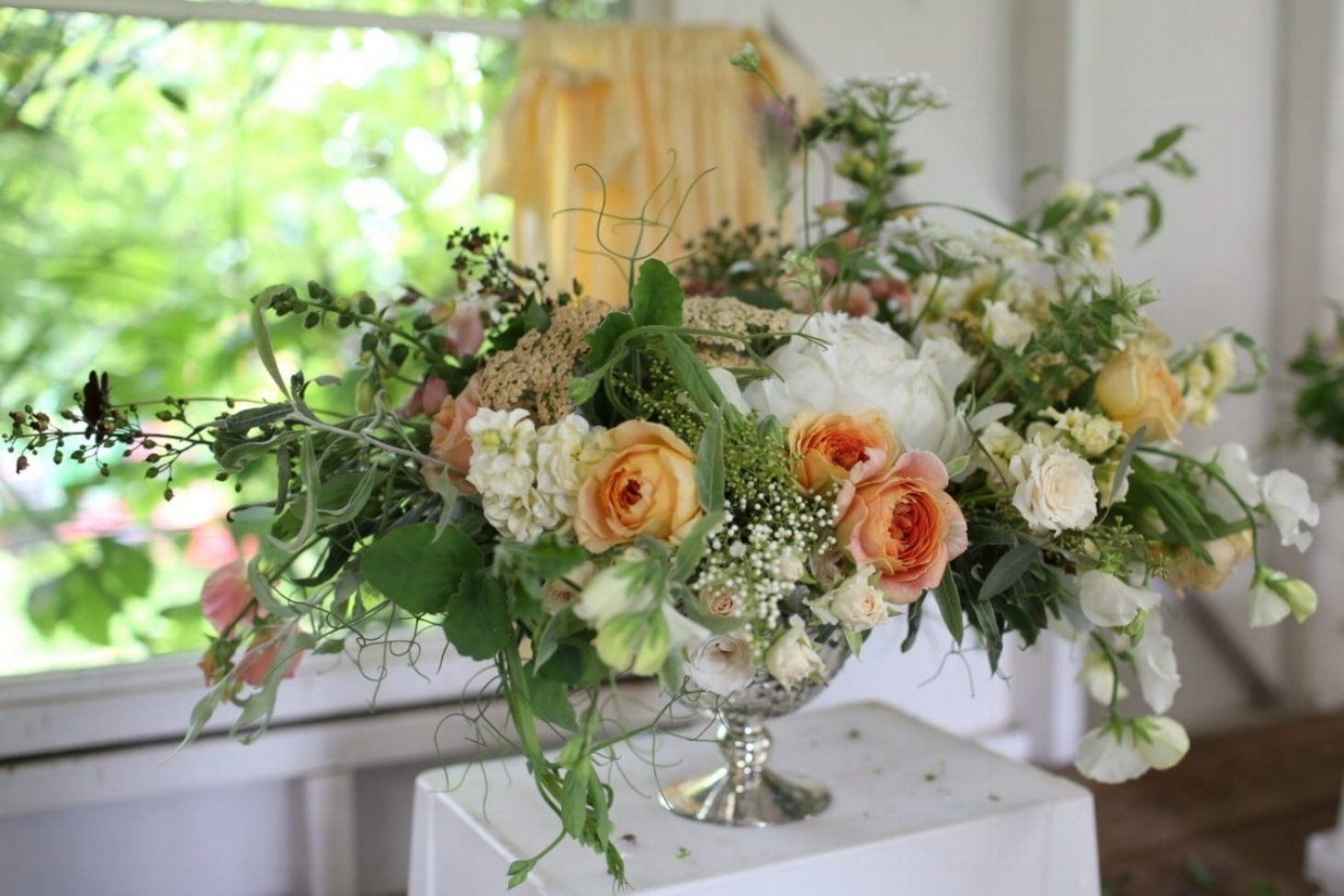 Statement Piece - $160.00/ea - Large, dramatic arrangement, perfect as a pair to frame the front of ceremony or alone on display table. Measures 28-32