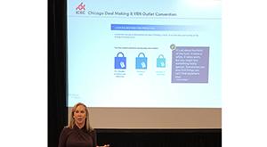 Karen Fluharty speaking at Chicago Deal Making & VRN Outlet Convention