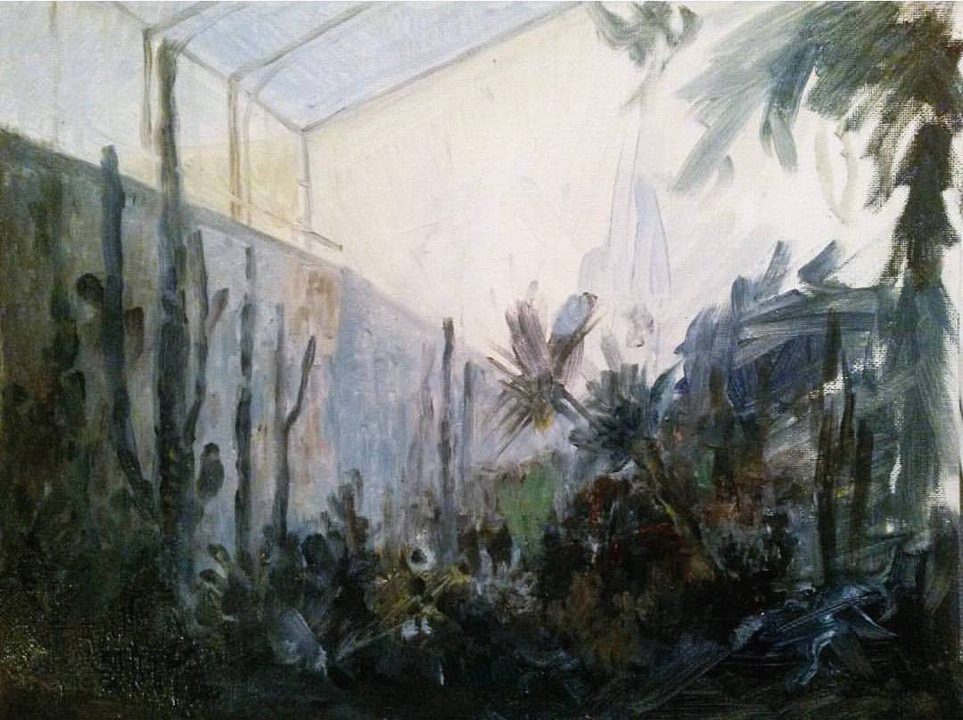 Study of light in a greenhouse  oil on board