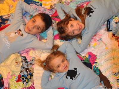 Chaya Dalya with her siblings