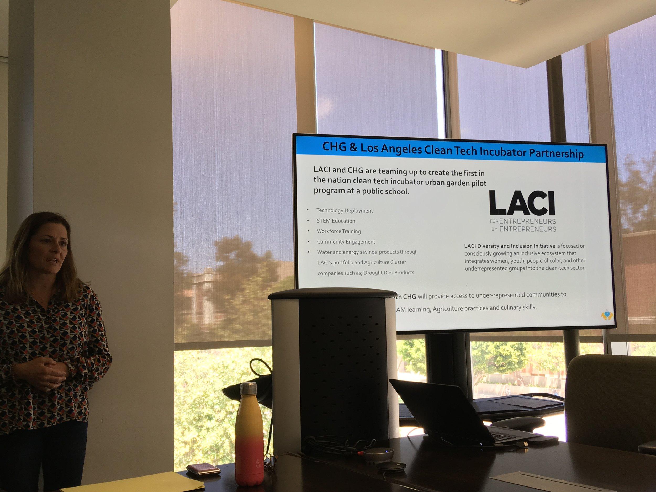 May 15, 2018: Community Healing Gardens and LA Cleantech partnership