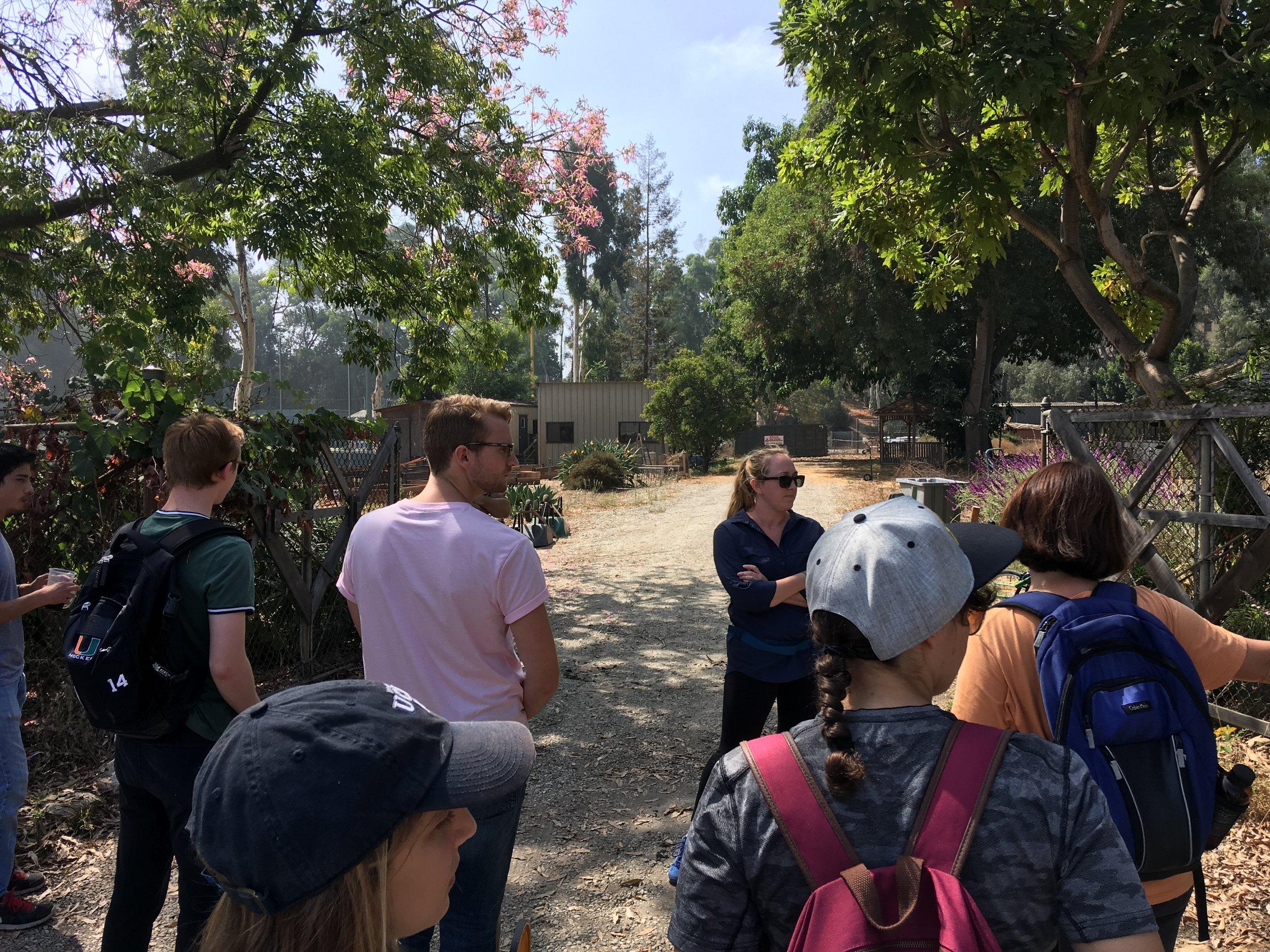 September 28, 2018: Field Lab Visit to Veterans' Garden
