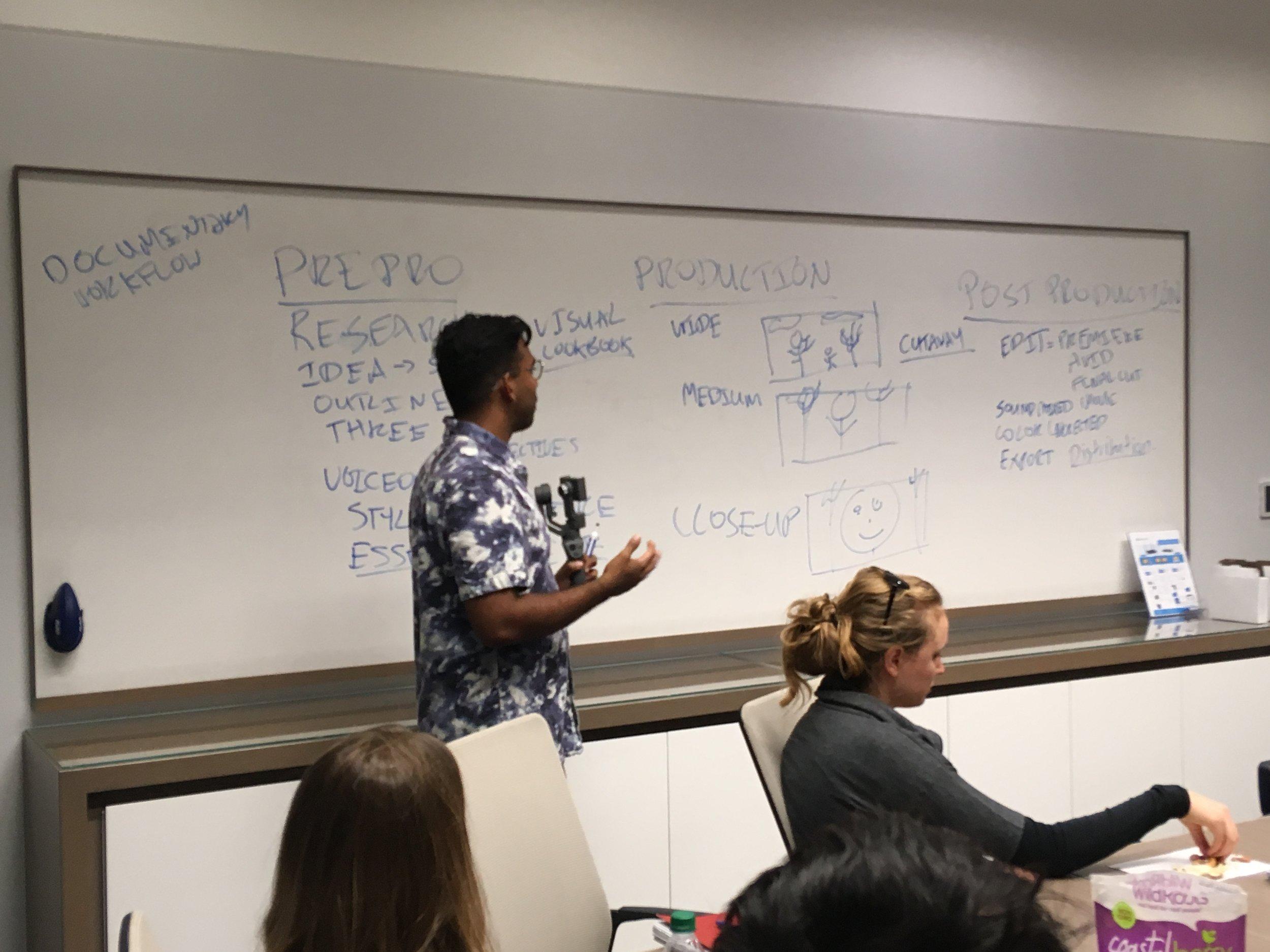 October 12, 2018: Mini-workshop on storytelling and production