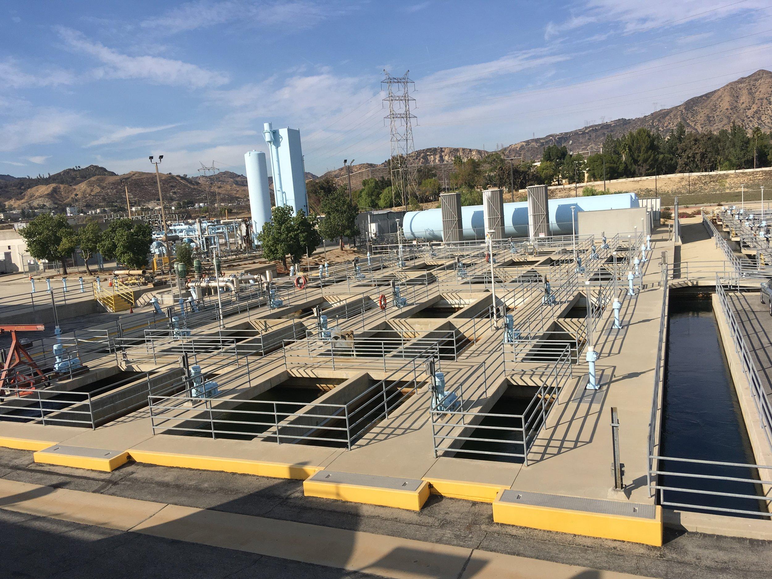November 16, 2018: Field lab site visit to LADWP Aqueduct Filtration Plant