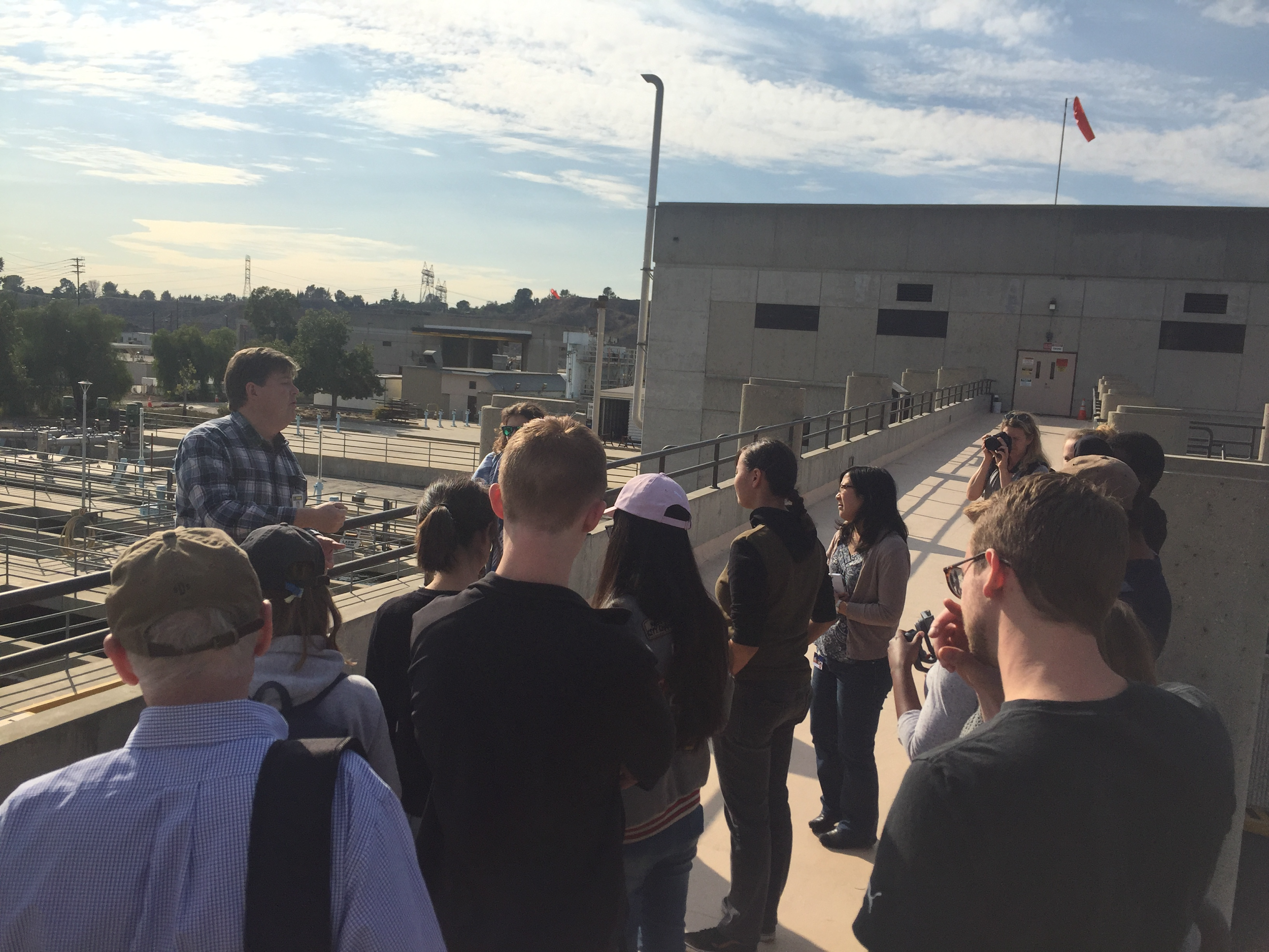 LAAFP engineers Vee and Jackie give an overview of the filtration steps at the plant.