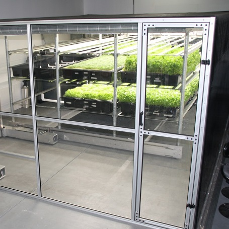 How it works: - Aeroponics-Exposed roots fed by mist instead of dirt-Can produce fresh leafy greens that are chemical free and competitively priced