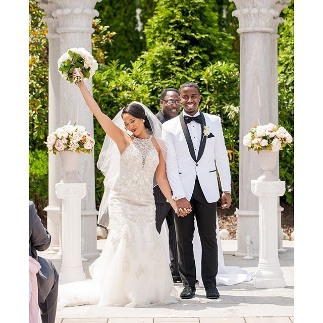Allow them to reintroduce themselves...they are Mr. and Mrs. Johnson and they are married!!! We truly had a great time with Cyanna & Mathew this past weekend. Literally the entire day was perfection 👌🏽! **SWIPE LEFT ⬅️TO SEE MORE** . Venue 🏛@merion_caterers Makeup 💄 by @sheenamarie.mua  Hairstylist 💇🏽‍♀️ by @salon_genesisllc  Photography 📷 by @sherondaphoto  Videography 🎥 by @zwillsx  Photobooth 😊 by @instaglamourphotobooth