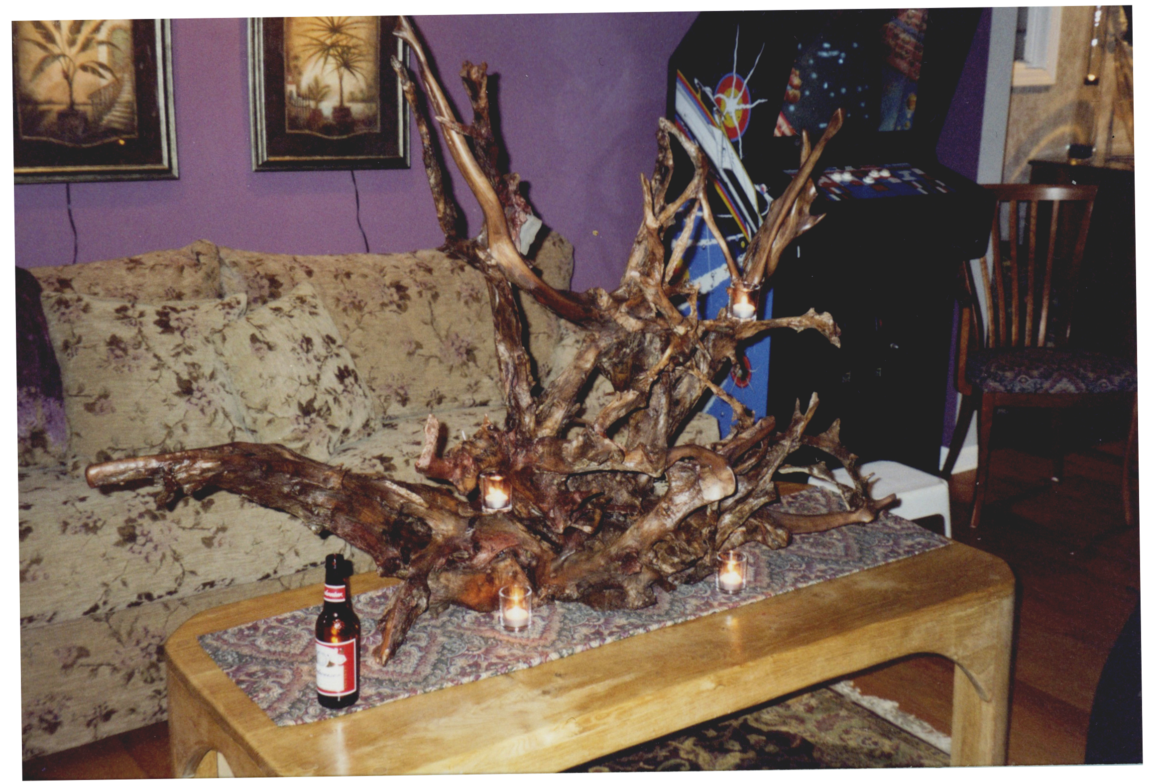 First root sculpture proudly displayed at home, 2006