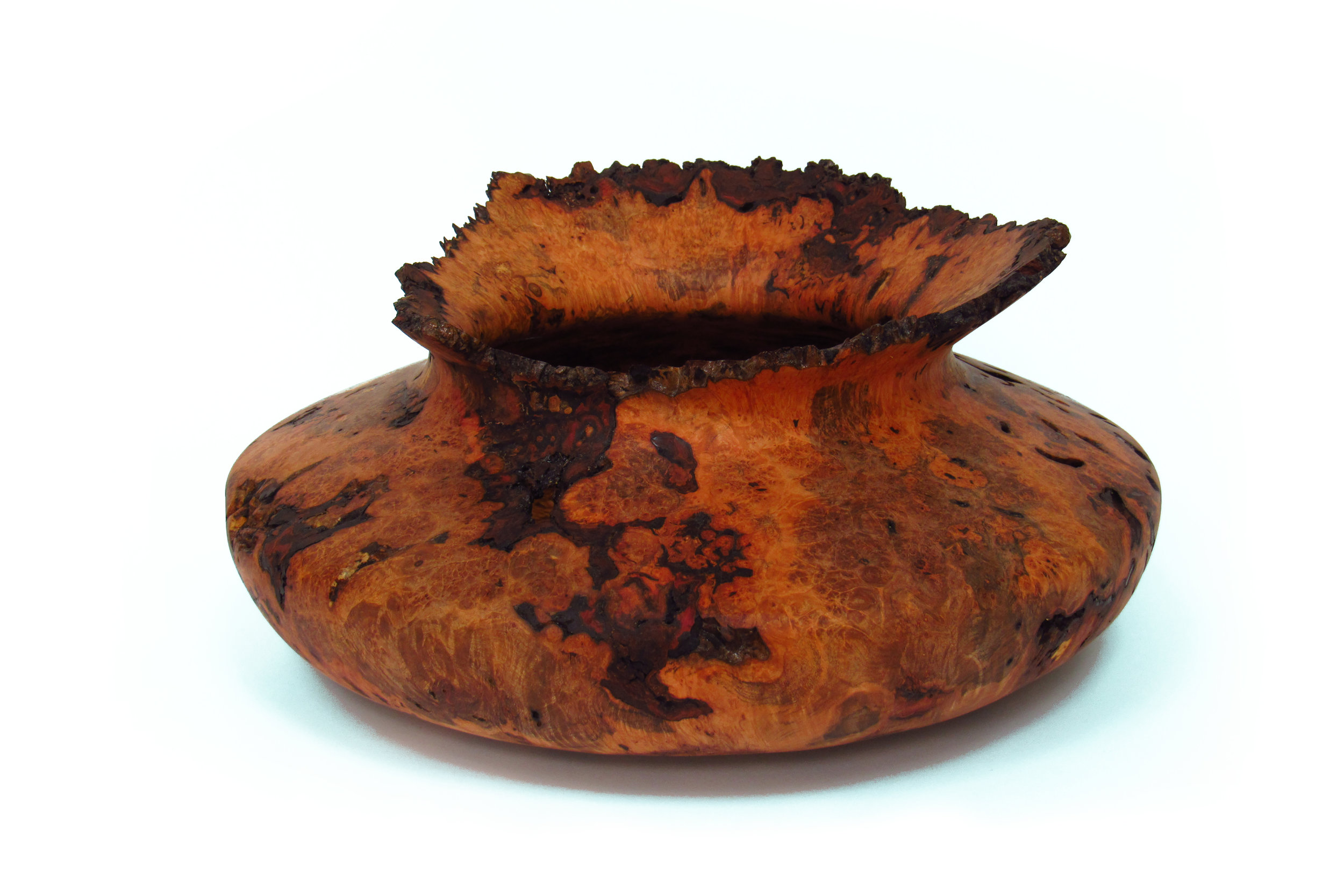 "13"" dia, 6.5"" tall  Red Maple Burl"