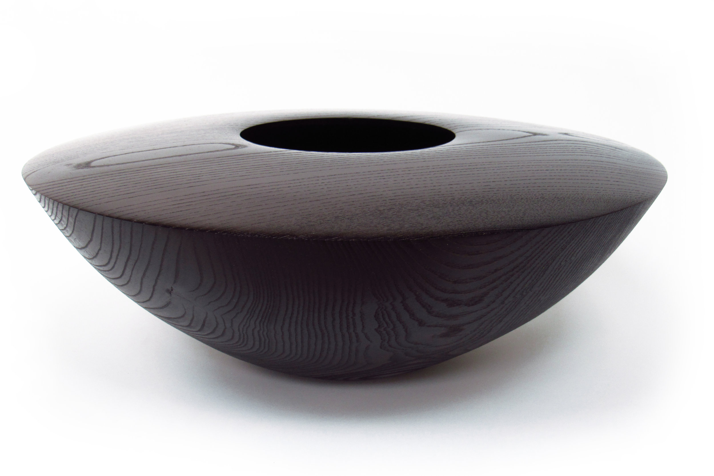 "Infinity Bowl  18"" dia, 9"" tall  Ash (Black Stain)"
